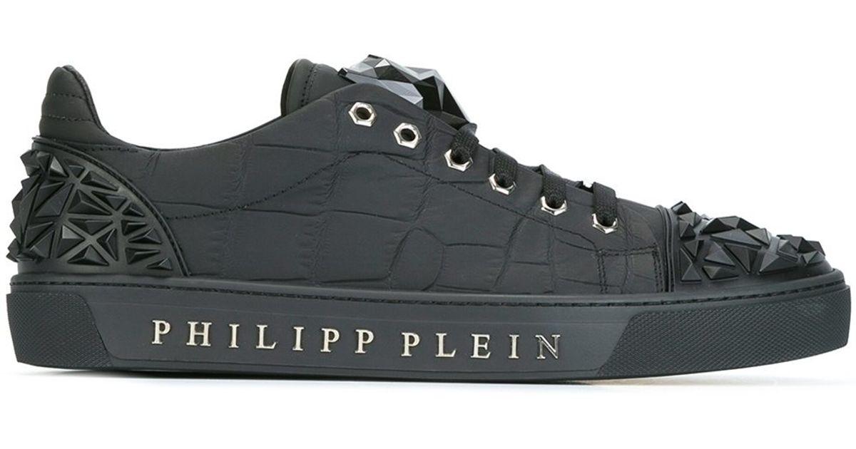 Jaguar In Men Philipp Sneakers Lyst Motif For Plein Black 8fqXw