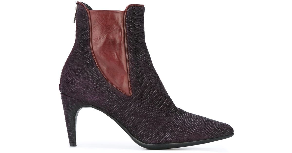 f077b2b1ca84 Officine Creative Rivette Leather Ankle Boots - Lyst