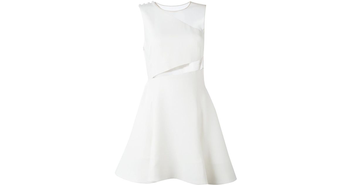 Galerry white flared out dress