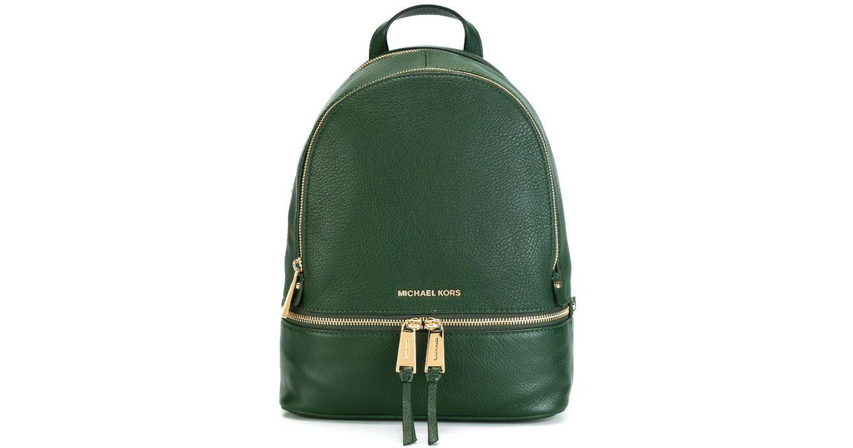 63f256bcd280b2 MICHAEL Michael Kors 'rhea' Backpack in Green - Lyst
