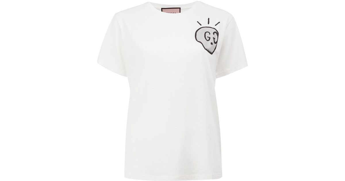 b7cb45d5c Gucci Life Is T-shirt in White - Lyst