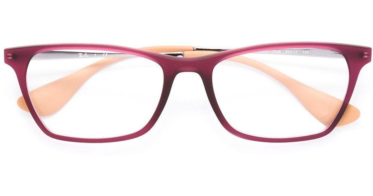 b5f9ff0b283ca Lyst - Ray-Ban Square Frame Glasses for Men