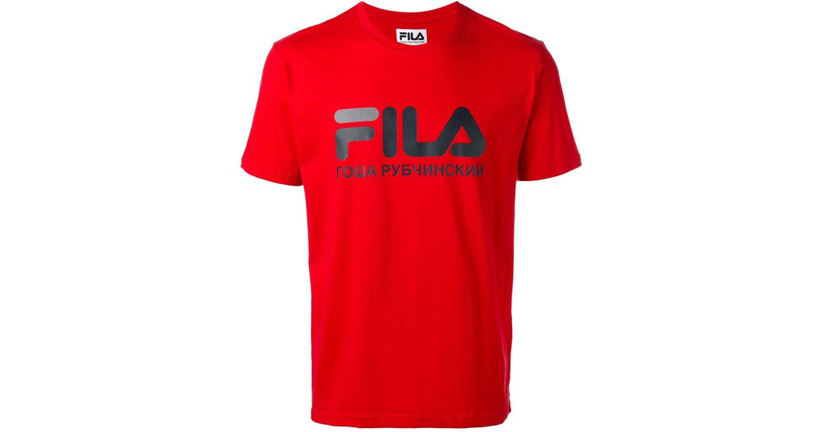 0d0aa1c93579 Gosha Rubchinskiy Fila T-shirt in Red for Men - Lyst