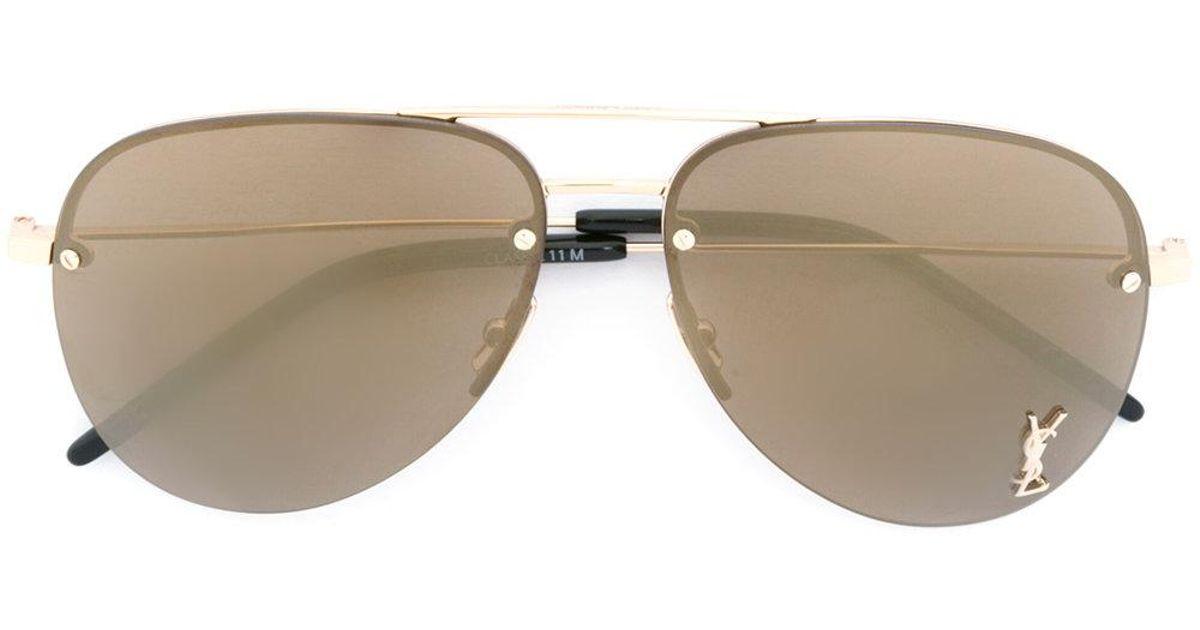 de6f8eb7d3 Saint Laurent - Black Monogram M11 Sunglasses - Lyst