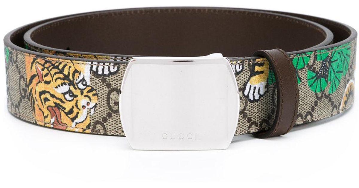 5e7cf3c2604 Gucci Bengal Tiger Print Belt in Brown for Men - Lyst
