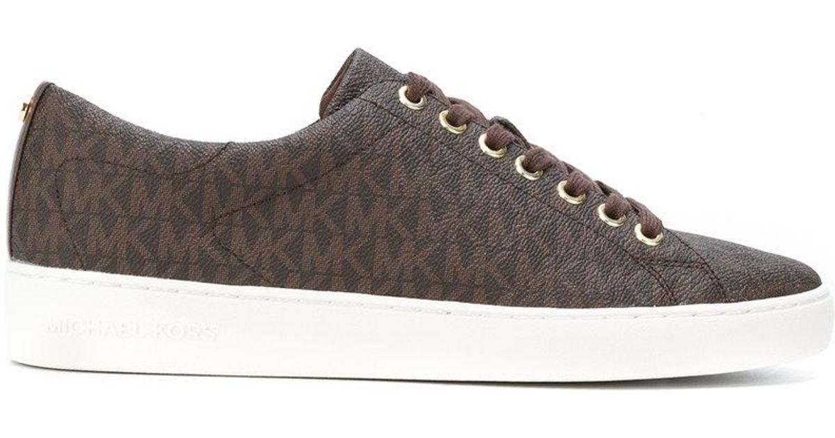 f2576ea4d7b Lyst - MICHAEL Michael Kors Monogram Print Sneakers in Brown for Men
