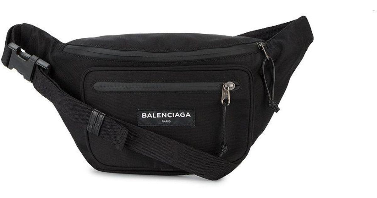 d83f8a8f1ad8ac Balenciaga Explorer Zip Belt Bag in Black for Men - Lyst