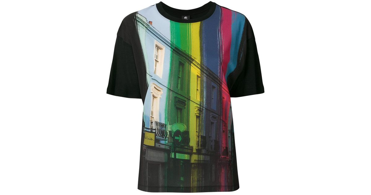 Lyst ps by paul smith graphic printed t shirt in black for Graphic t shirt printing company
