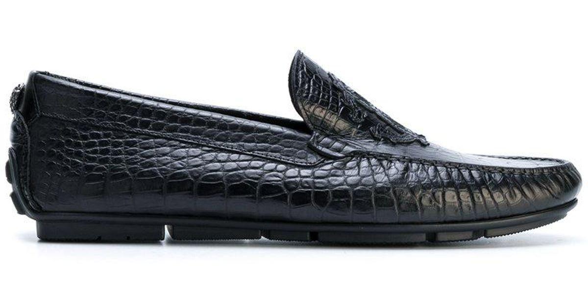 Roberto Cavalli Crocodile effect loafers ek2sAh
