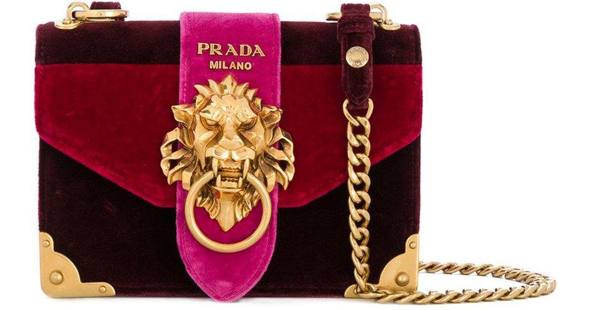 ... australia lyst prada cahier lion embellished shoulder bag 0a030 e73a0 e3fe197482cd7