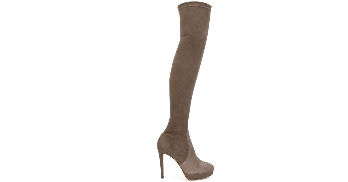 9357c6cdd9d Lyst - Jimmy Choo Mason Over-the-knee Boots in Gray