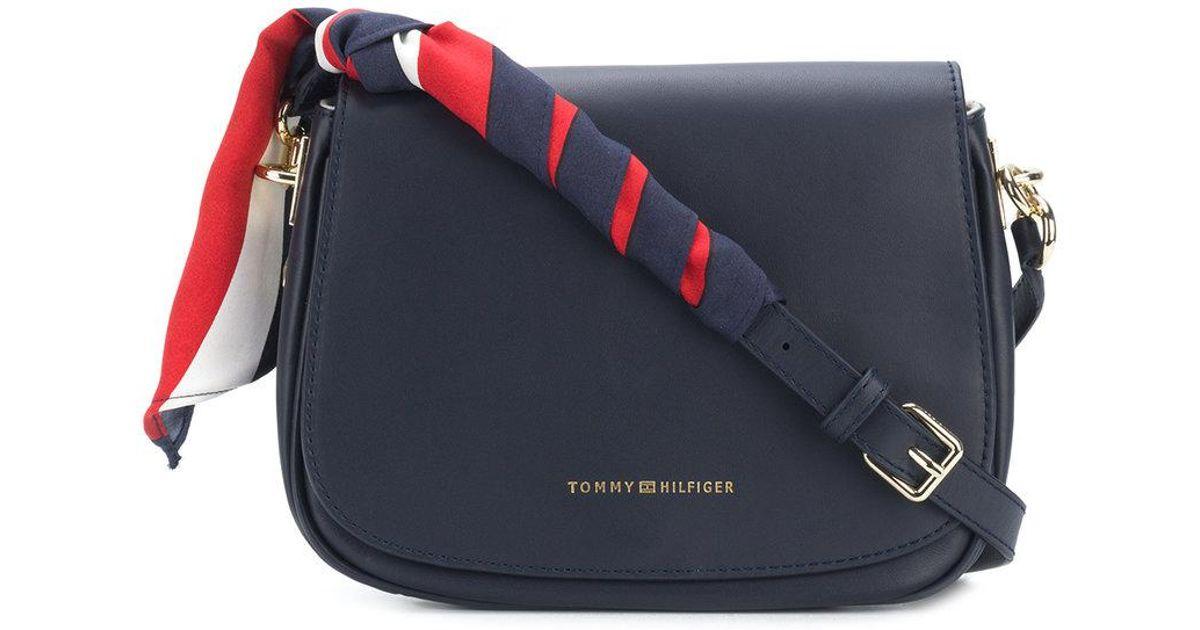 06e1ef74d4 Tommy Hilfiger Statement Strap Saddle Bag in Blue - Lyst
