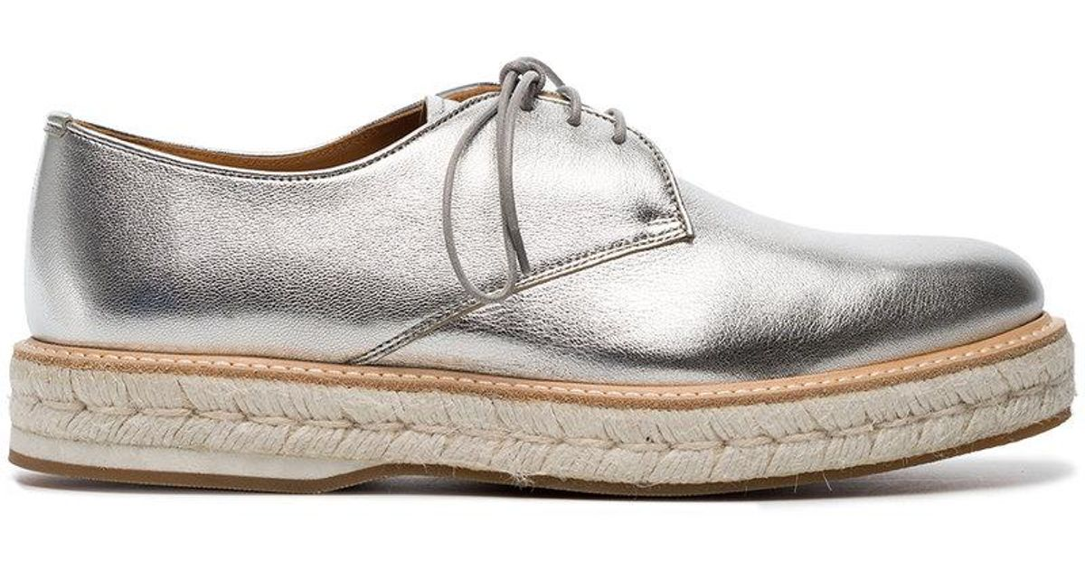 Silver Taylee Leather Flat Brogues - Metallic Churchs