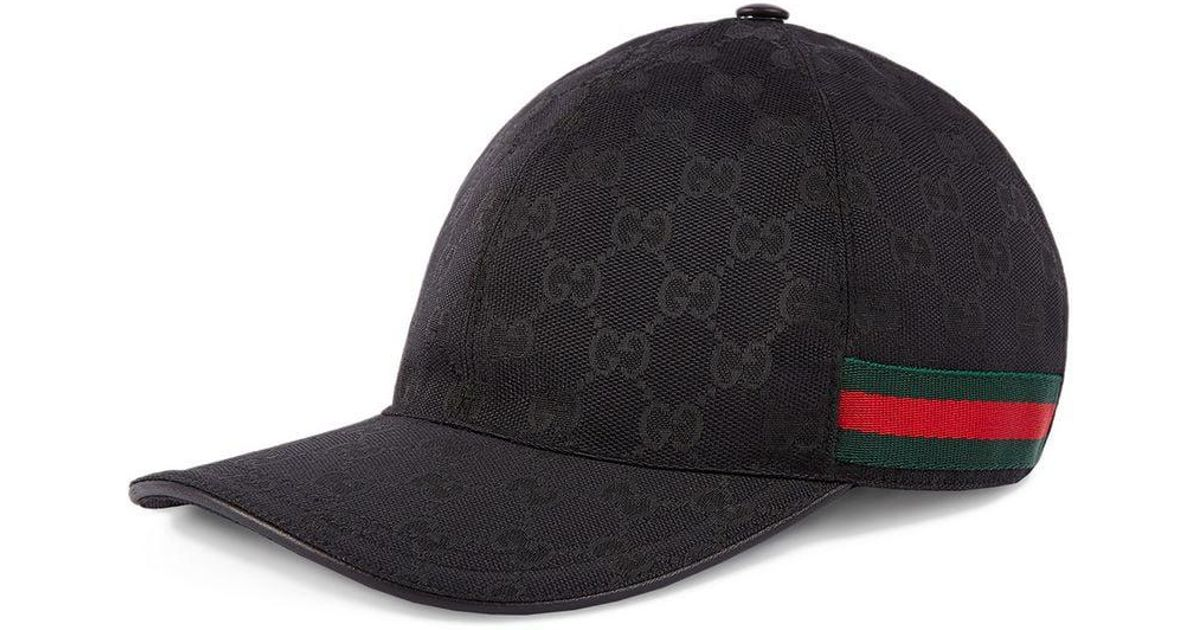 353626d6950 Gucci Original GG Canvas Baseball Hat With Web in Black for Men - Lyst