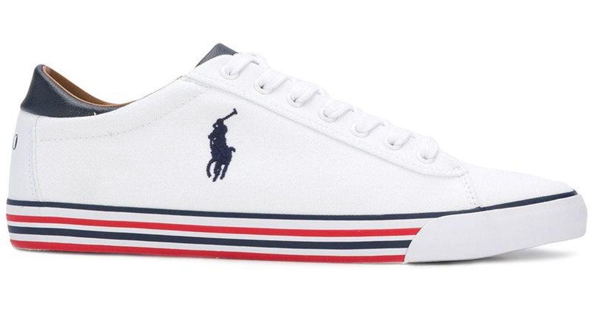 e0edbdab64fede Polo Ralph Lauren Tri-stripe Sole Sneakers in White for Men - Lyst