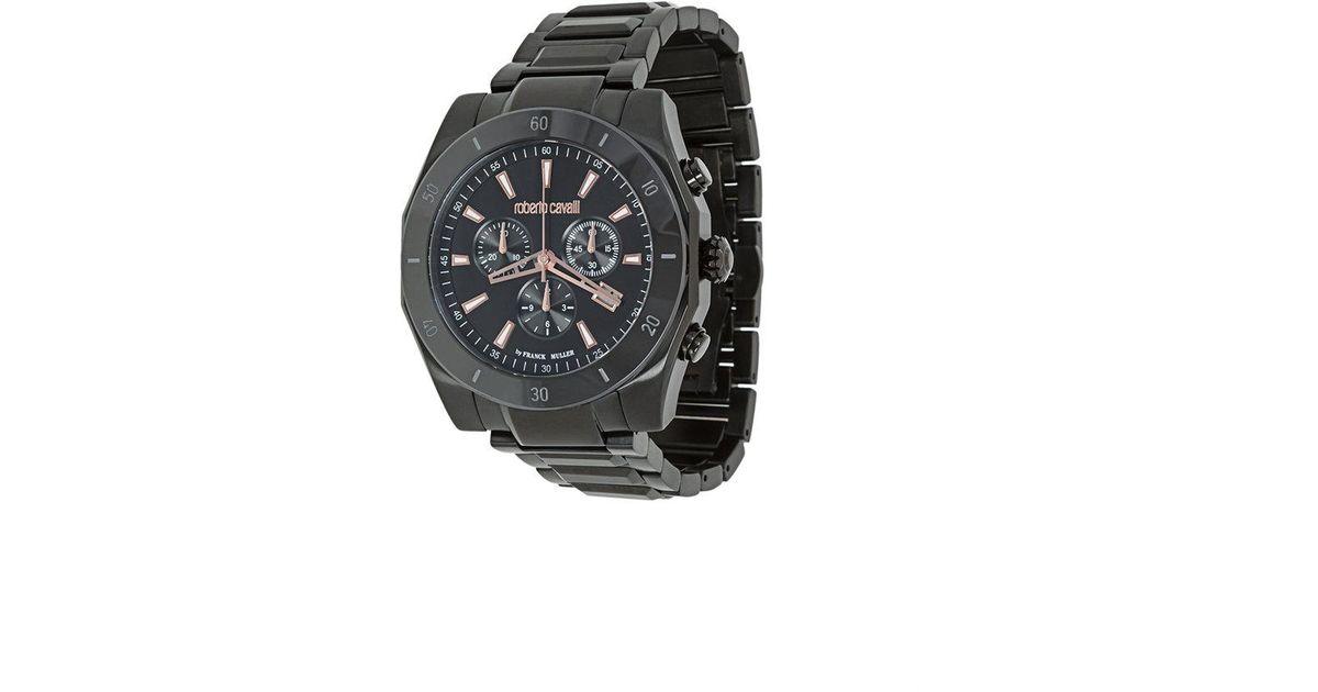 e316d648d6d9 Lyst - Reloj cronógrafo Franck Muller Roberto Cavalli de hombre de color  Negro