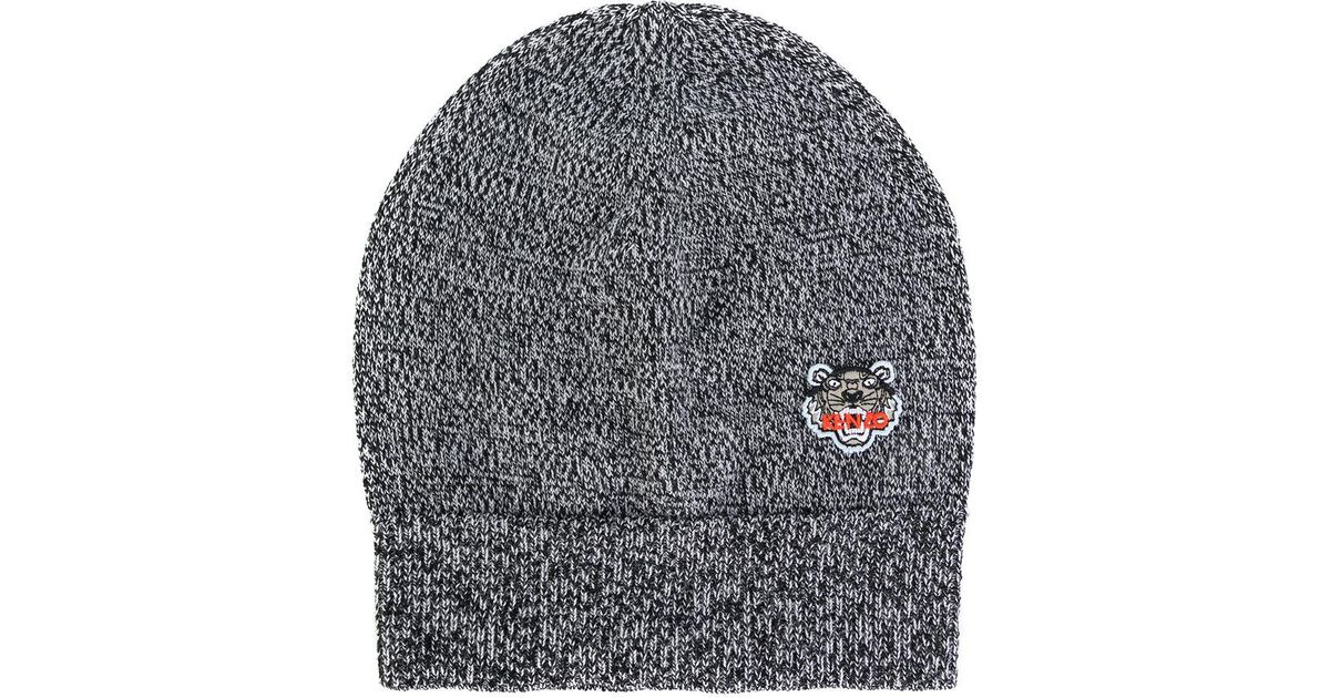 15452fa4286cd0 KENZO Tiger Crest Beanie Hat in Gray for Men - Lyst