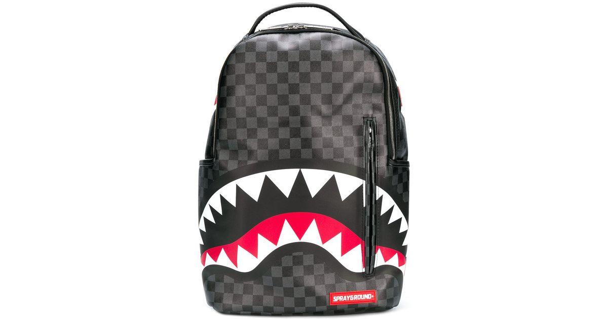 fbab1f7dec13 Lyst - Sprayground Sharks In Paris Backpack in Black for Men