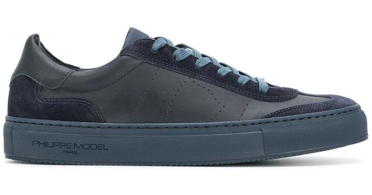 e4f0a2261 Lyst - Philippe Model Belleville Sneakers in Blue for Men
