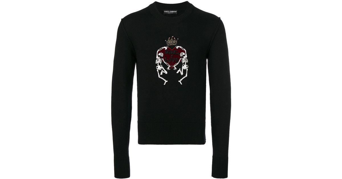 Gabbana En Sweat amp  Sequins Homme De Brodé Lyst Coloris Of Love King Pour  Noir Dolce zaqpxn8 4e6483f2d838