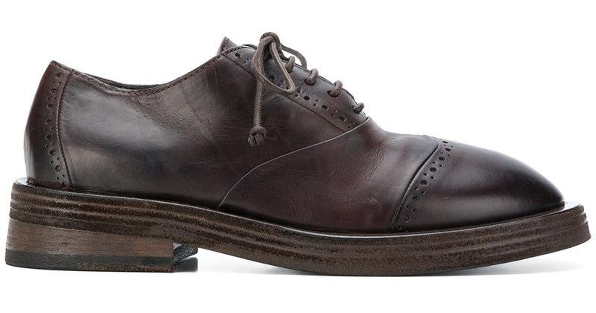 classic embroidered brogues - Brown Mars 8mH42
