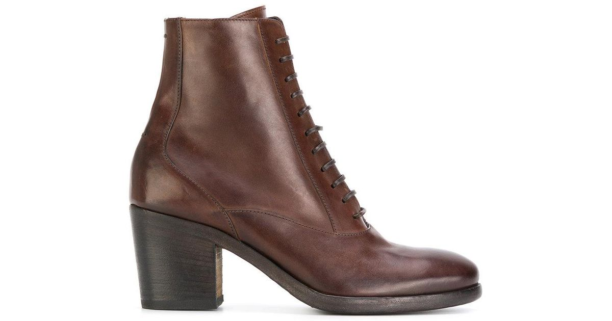 e0ab50871a29b Lyst - Pantanetti Lace-up Ankle Boots in Brown