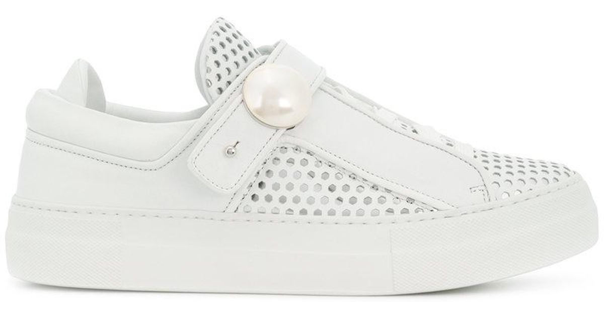 Cheapest cheap online clearance with credit card Nicholas Kirkwood White Bobby Lace Sneakers authentic sale online free shipping footlocker pictures aq97zc5