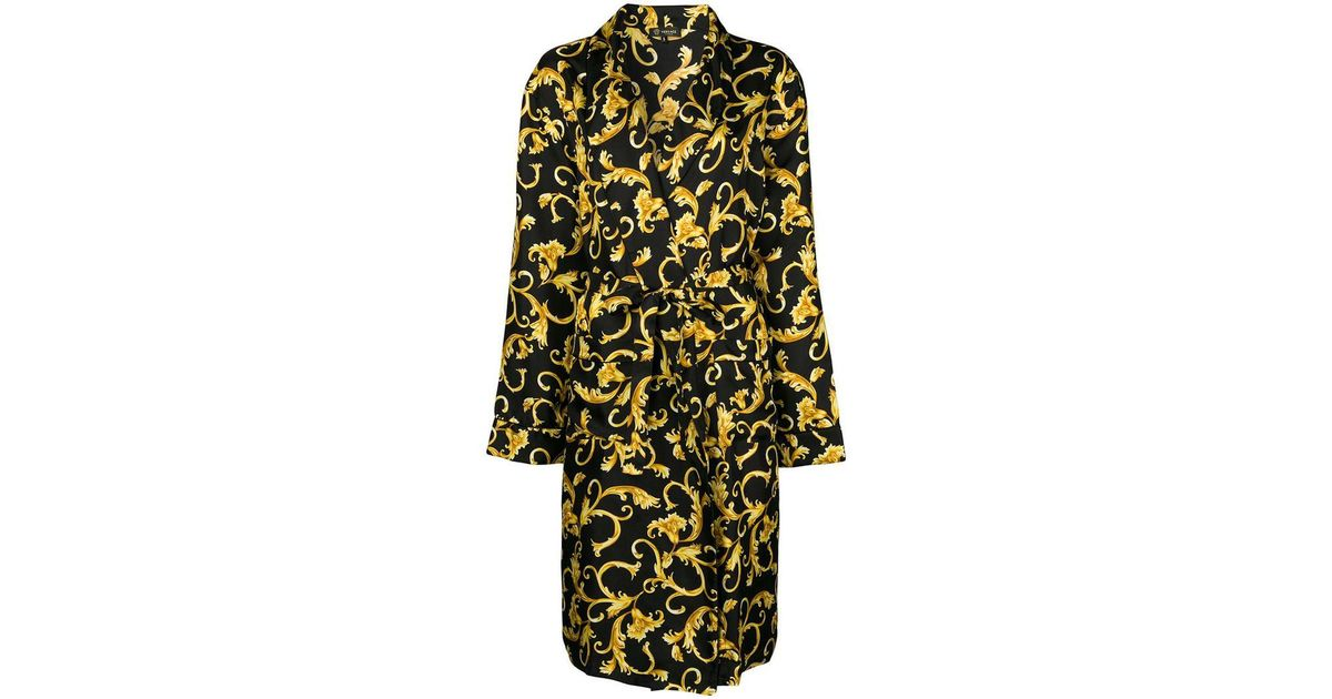 0641d7d990 Lyst - Versace Printed Robe in Black for Men
