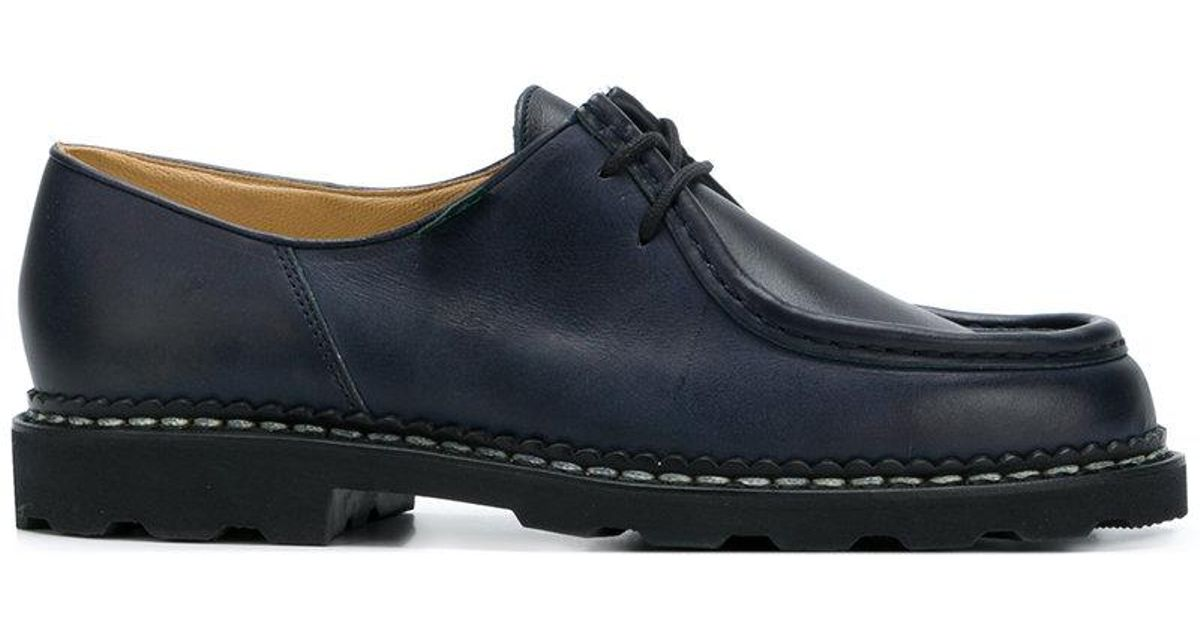 lace-up boat shoes - Blue Paraboot jjLYo