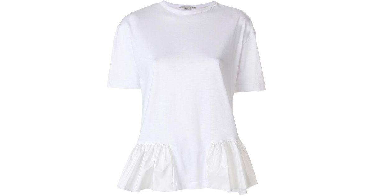 ruffle trim T-shirt - White Stella McCartney Discount Get Authentic Q6eKK