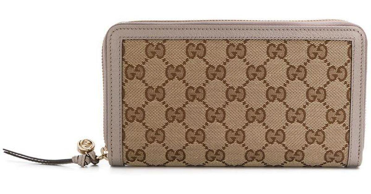 Gucci GG Supreme Zip Around Wallet - Lyst 8ff54524d64a