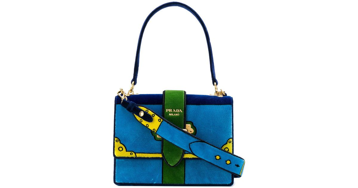 5f076b04e86d Lyst - Prada Cahier Cartoon Shoulder Bag in Blue