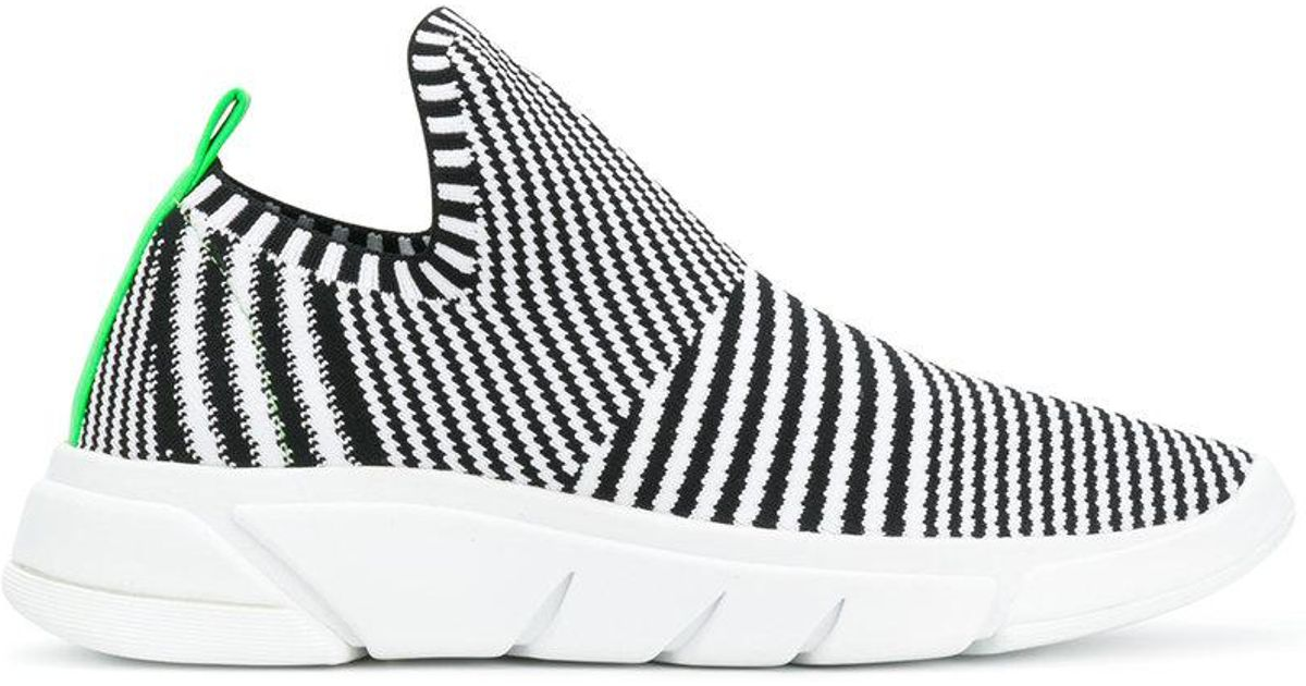 outlet best wholesale Kendall+Kylie striped knitted sneakers for cheap online ljZrIIOl