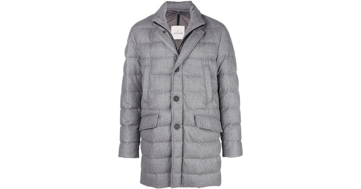 06e57d005 Lyst - Moncler Keid Padded Coat in Gray for Men