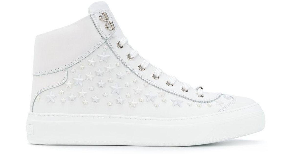 ee79d0dfa441 Jimmy Choo Argyle Hi-top Sneakers in White for Men - Lyst