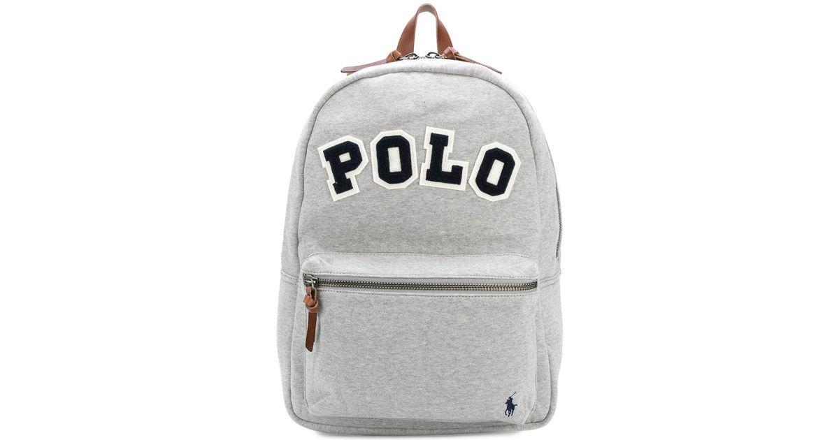24dde9408c4a Lyst - Polo Ralph Lauren Medium Backpack in Gray for Men