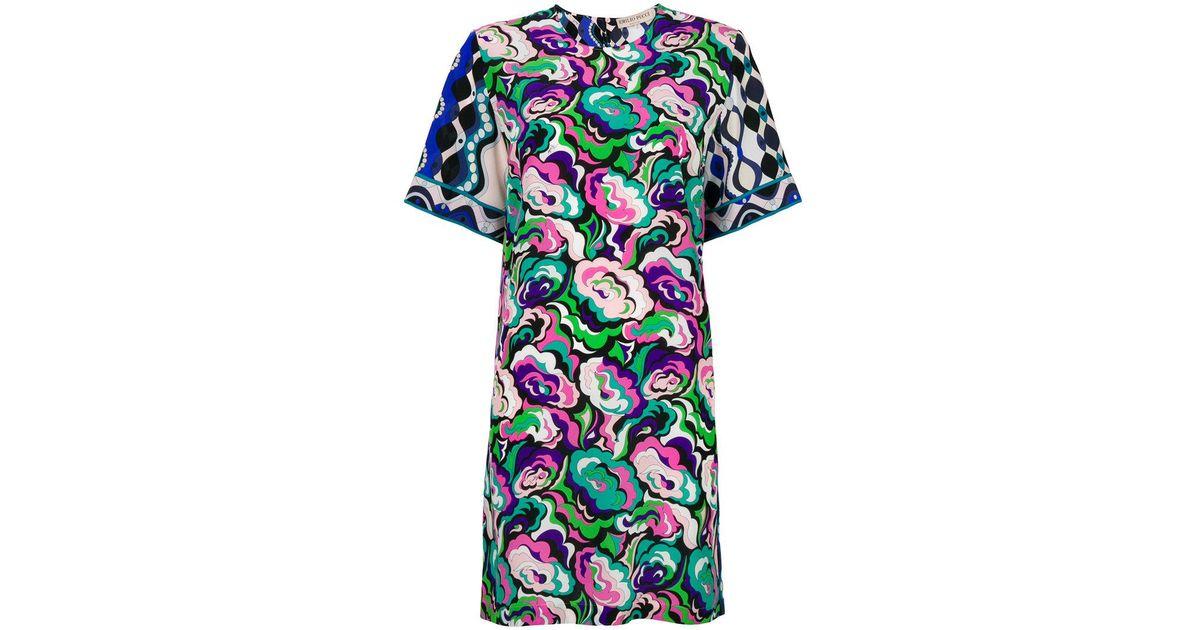 abstract floral T-shirt dress - Multicolour Emilio Pucci JIeIR7mdg