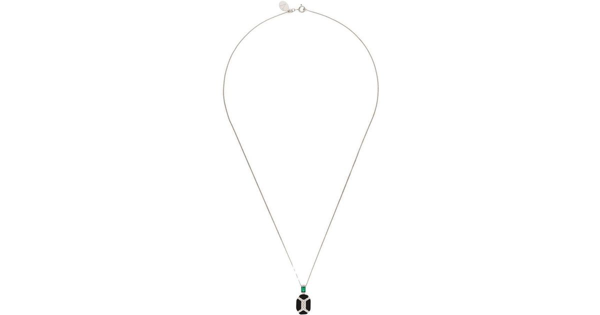 V JEWELLERY Luella pendant necklace - Metallic yMuzHhl