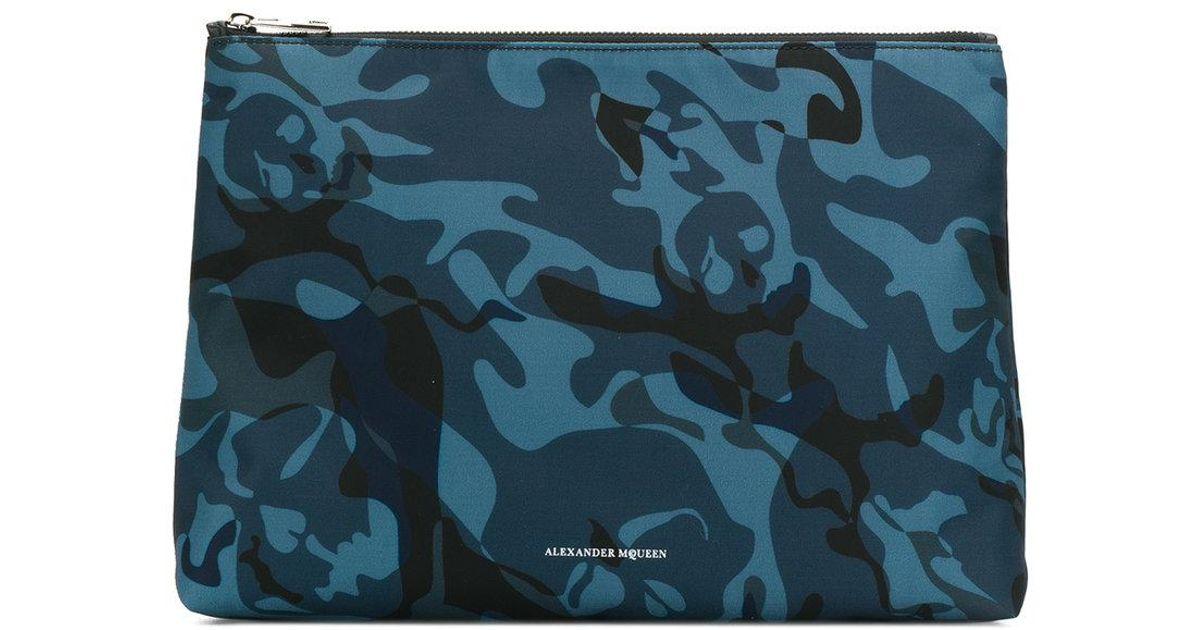 Cheap Sale Best Sale Alexander McQueen Medium Camo Skull clutch Discount Fashion Style For Sale Cheap Online swlbt