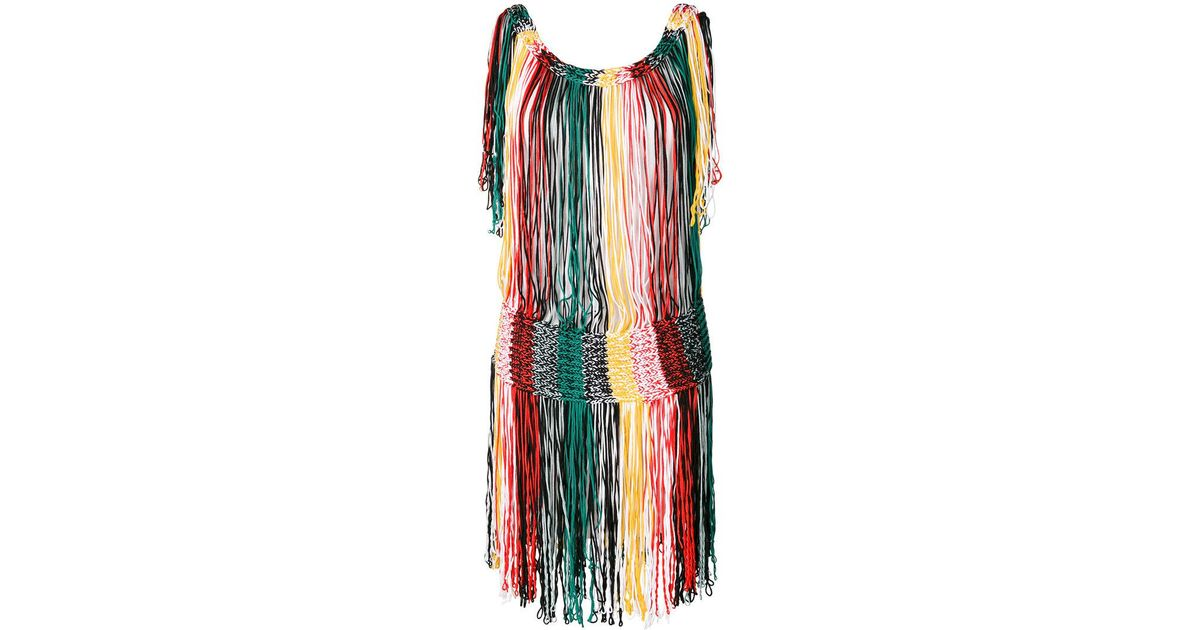 Franges Robe En Tricot - Multicolor Sonia Rykiel 1AqjwCCEw