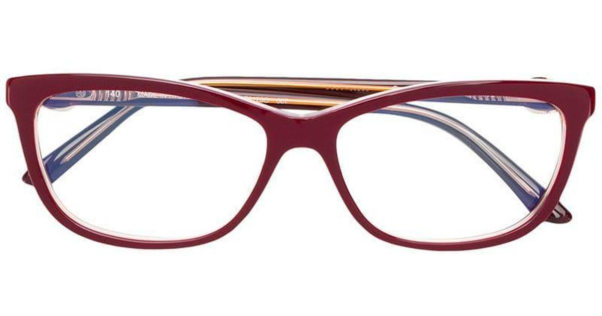 de4d8e1558e Cartier C Décor Glasses in Red - Lyst