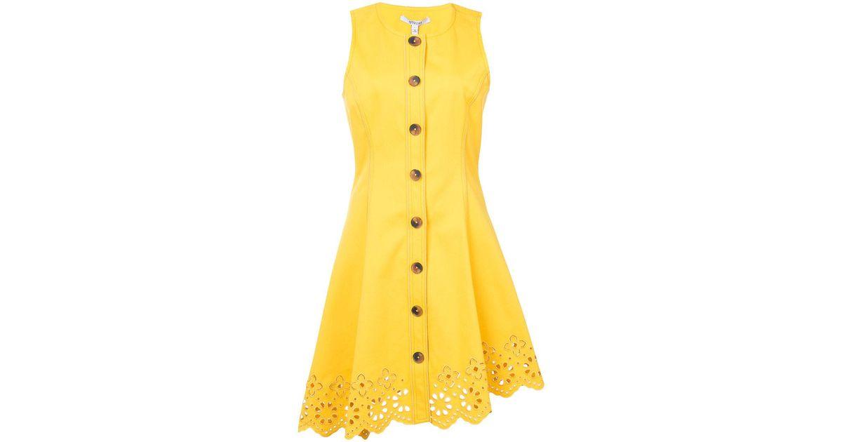 efa714f662d27 Lyst - Derek Lam 10 Crosby Sleeveless Button Down Dress With Scalloped Hem  in Yellow