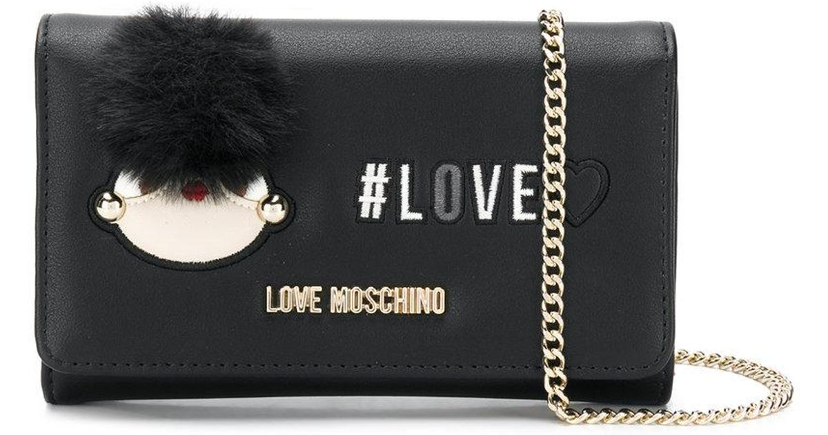 Moschino Pompom detail wallet on chain VgCEQ