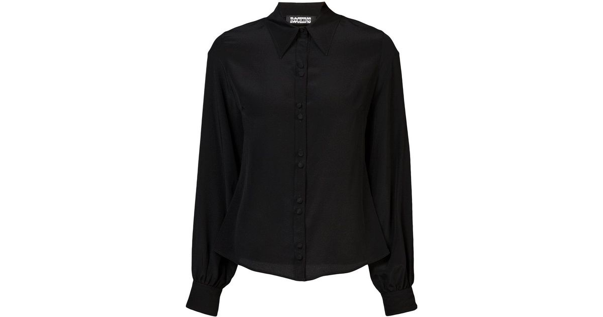 bell sleeve shirt - Black Rockins Clearance Discount Big Discount Cheap Price Cheap Sale Fashion Style Discount Original k8eeL52P