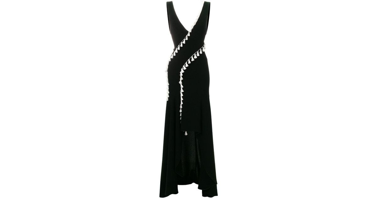 slit tassel dress - Black Galvan 2018 Unisex Visa Payment Comfortable Cheap Online Discount Fashion Style gHdyie