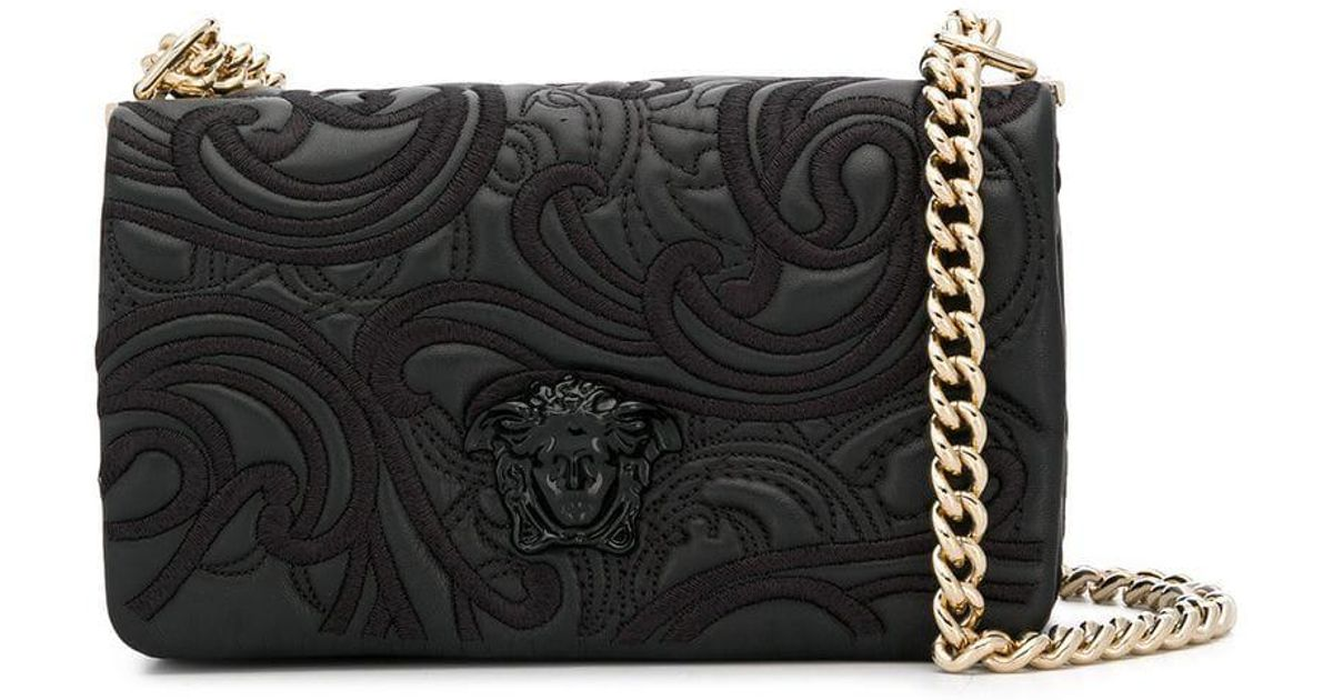 Lyst - Versace Palazzo Medusa Shoulder Bag in Black c054167c47a2c