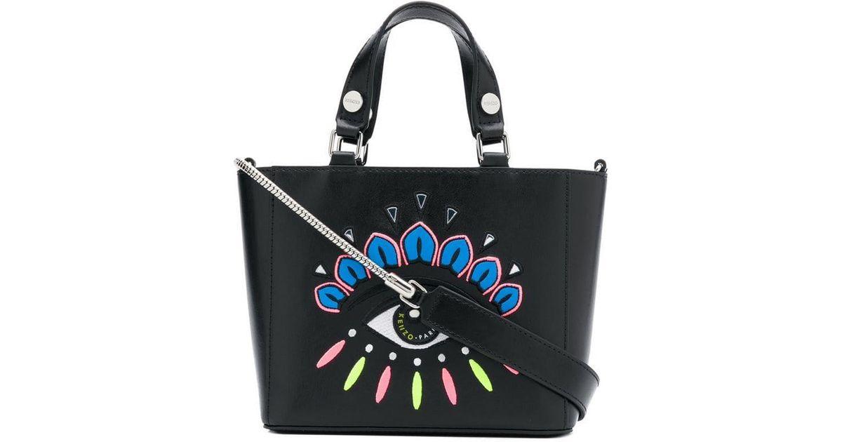 2c8b87b2f1 KENZO Icon Top Handle Bag In Black Split Leather in Black - Save 14% - Lyst