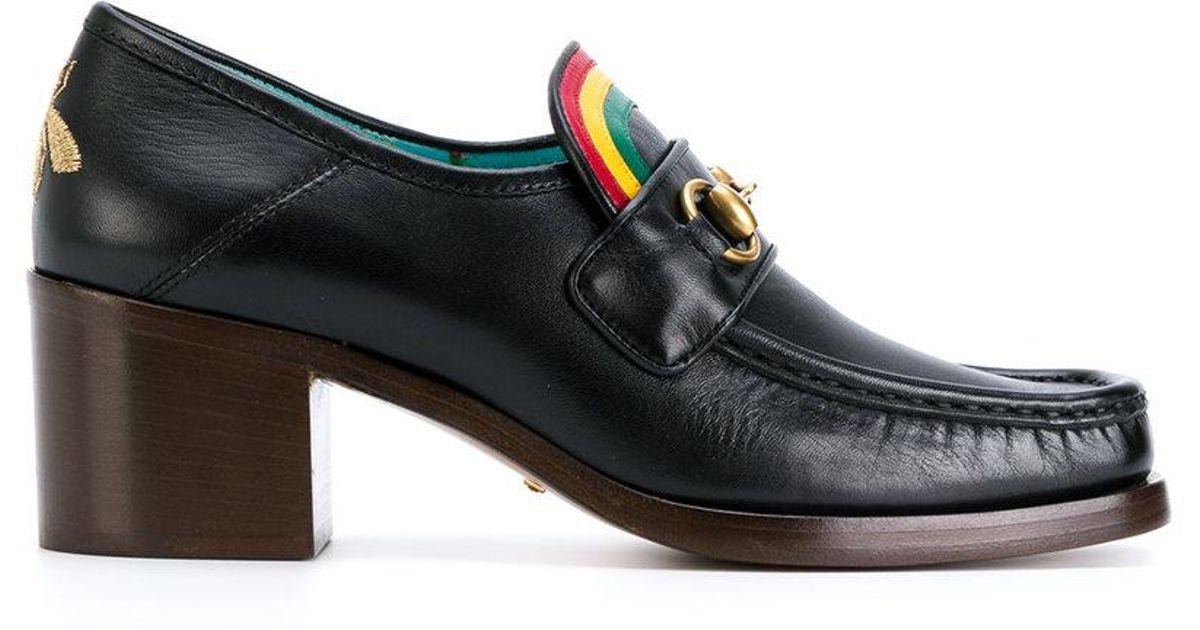 c440b098e0f Lyst - Gucci Rainbow Horsebit Loafers in Black