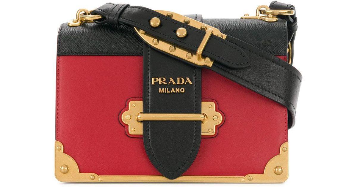 2941580c0a75 Lyst - Prada Cahier Box Bag in Black