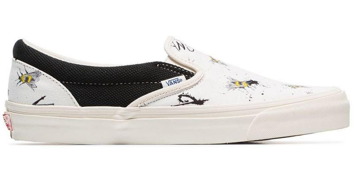 433d1f535ee Lyst - Vans X Ralph Steadman Bee Print Sneakers in White for Men